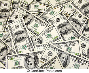Cash, banknotes close up Horizontal image