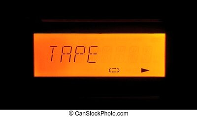 Playing Tape - Red Display of Micro HiFi Systems