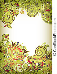 Swirly Floral Background - Illustration of abstract swirly...