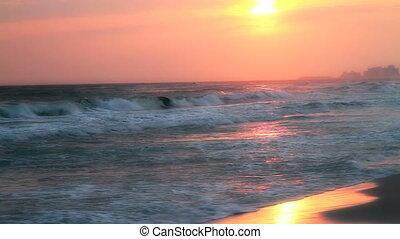 Hand Held Sunset Beach Shot Three