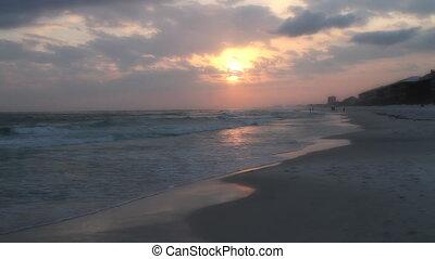Hand Held Sunset Beach Shot Two