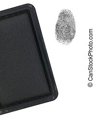 Finger Print - A finger print and a stamp pad isolated...