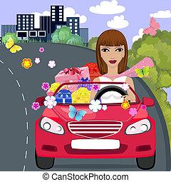 car gift girl