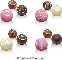 vector set of colorful candies