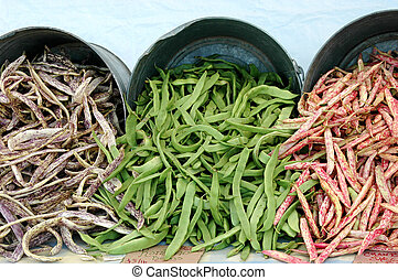 String beans. - String beans at a local market.