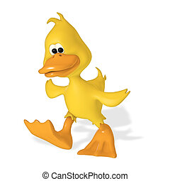 Cute 3D Duck isolated on white background