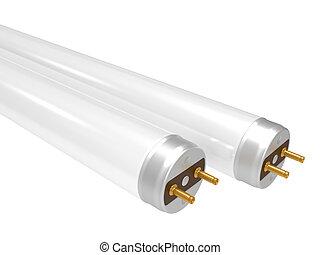 Fluorescent Lamp - Fluorescent light tube. 3D isolated...