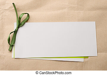Greeting card isolated on paper background