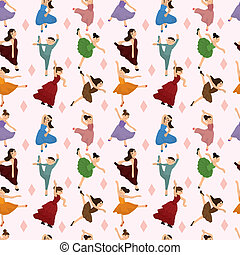 seamless Ballet dancer pattern