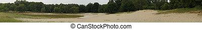 boberg - panorama of the dunes in hamburg, germany