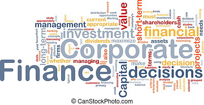 Corporate finance is bone background concept