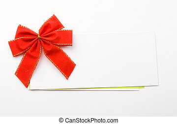 Red bow with card