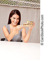 Happy Architect with Model