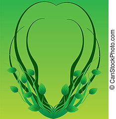 Green framework in the form of branches