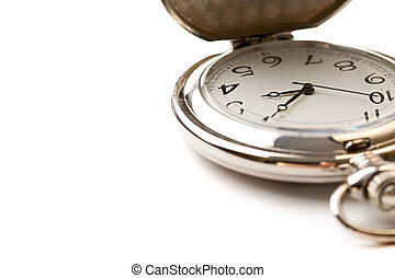Pocket watch isolated white