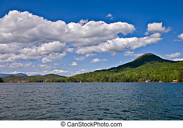 Lake and Mountains - Beautiful distant lake view; on the...