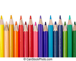 color pencil draw art school educaation - close up of color...