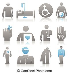 Medical icons 8 - Icons on a medicine theme. A vector...