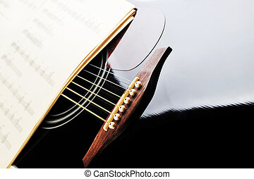 Acoustic guitar - acoustic guitar and sheet music