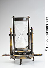 hourglass - time concept with hourglass isolated