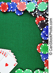 chips for gamblings and cards - different color chips for...