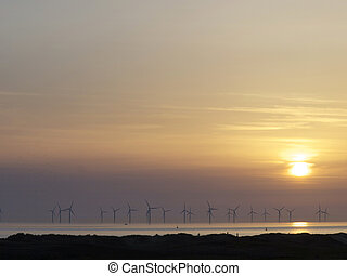 windfarm - Windfarm at sunset