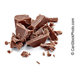 chocolate dessert pieces sweet food - close up of chocolate...