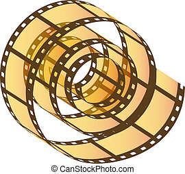 Photo film reel - Transparent Photo film reel with movie...