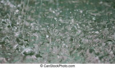 Raining - Dripping water