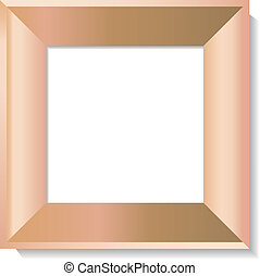Realistic wooden photo frame