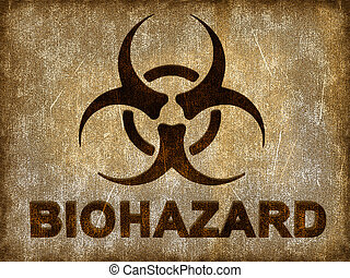 Biohazard sign on grunge background