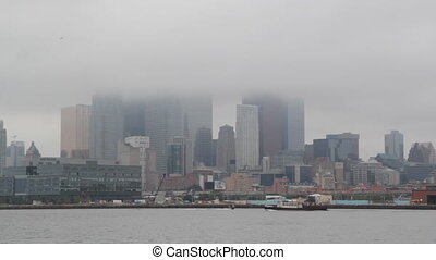 Foggy Toronto. - View of Toronto waterfront from the east....