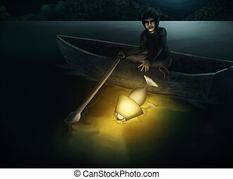 Throw The Lamp Into The Lake At Nig