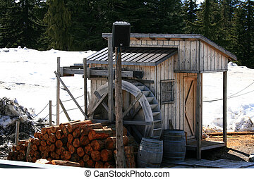 Water Mill - Grouse Mountain, Vancouver, BC, Canada - Grouse...