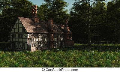 Abandoned English Manor House