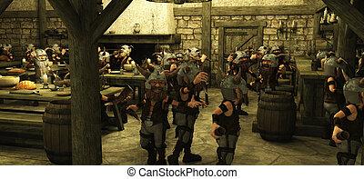 Toon Viking Dwarf Horde in Tavern - Toon Viking Dwarf Horde...