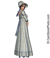 Jane Austen Character - 1 - Jane Austen character in Regency...