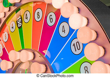 Wheel of fortune - Colorful wheel of fortune with lightbulbs