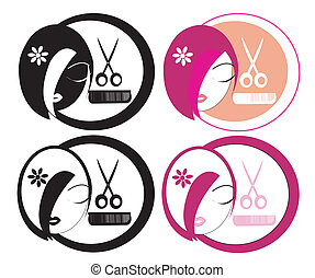 Hairdressing LOGOs - A collection of hairdressing logos