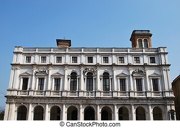 Library Palace, Bergamo - Public Library Palace, old square,...