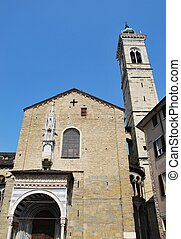 Small church, Bergamo - Small church facade, old town,...