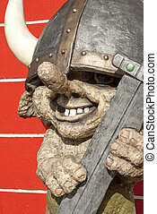 troll figure in iceland - troll mythical viking figure in...