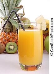 fruit juice - glass of fruit juice