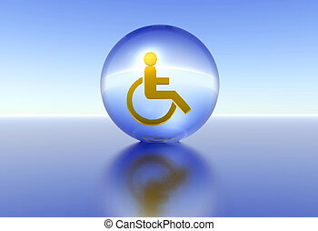 handicap - illustration of the isolation of handicap