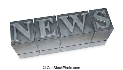 """movable type - the word """"NEWS"""" made with old movable type..."""