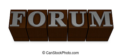 """movable type - the word """"FORUM"""" made with old movable type..."""