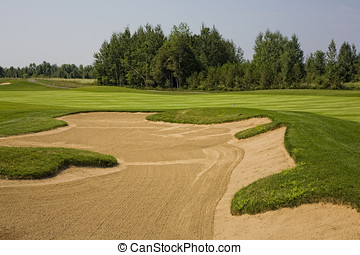 Sand Trap and Greens - Beautifully maintained golf greens...