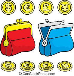 コイン, 財布, 札入れ