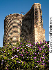 maidens tower baku azerbaijan - maidens tower landmark in...