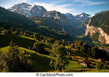 The Bernese Oberland V1 - Scenery with mountains in the...